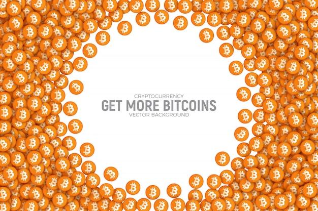 Ilustração conceitual abstrata de vetor de bitcoin