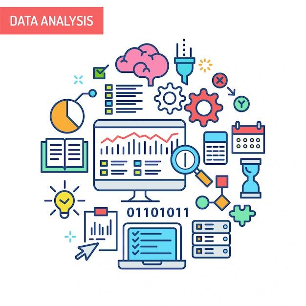 Ilustração conceitual de análise de dados