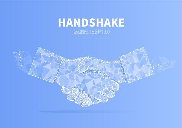 Ilustração conceitual de aperto de mão de cooperação empresarial para chegar a um acordo