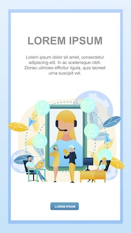 Ilustração concept online 24/7 suporte ao cliente