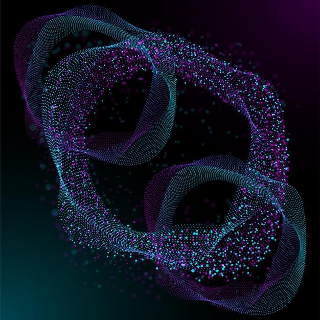 Ilustração conservada em estoque da tecnologia circuito futurista digital. conceito abstrato da ficção científica 3d com pontos e linhas do inclinação, inteligência artificial. abstrato.