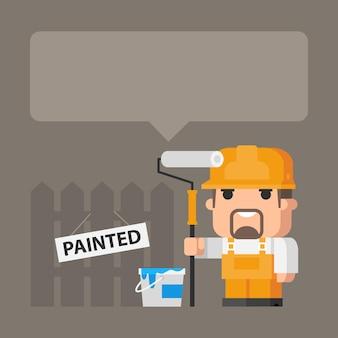 Ilustração, construtor de conceito e pintura, formato eps 10