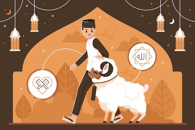 Ilustração criativa design eid-al-adha