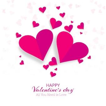 Ilustração criativa do fundo dos corações decorativos do dia dos namorados