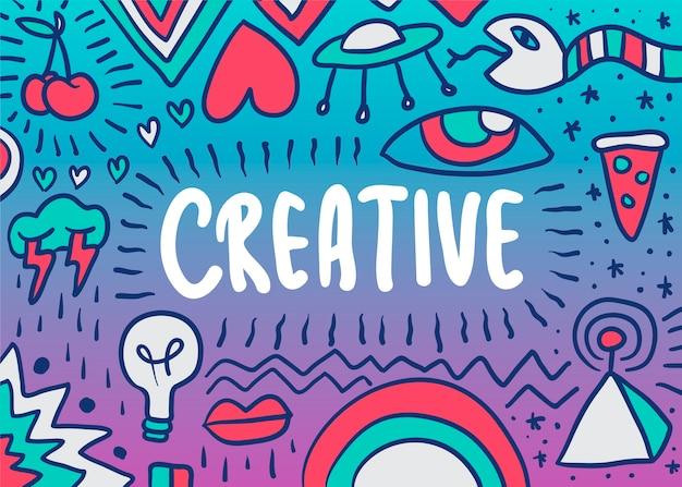 Ilustração criativa doodle