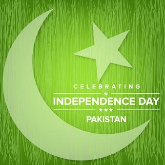 Ilustração criativa para a celebração do dia da independência do paquistão