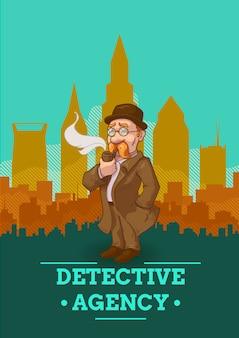 Ilustração da agência de detetives