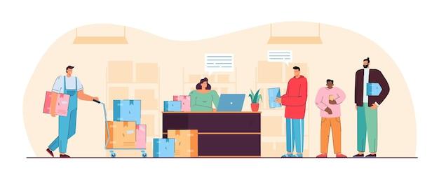 Ilustração da agência dos correios