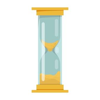 Ilustração da ampulheta amarela conceito de tempo