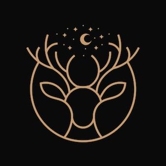 Ilustração da arte da linha cervo