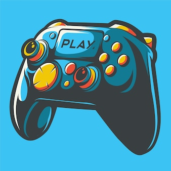 Ilustração da arte do controlador de stick de playstation