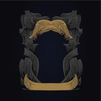Ilustração da arte do fundo da moldura do ornamento