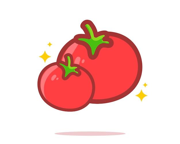 Ilustração da arte dos desenhos animados de tomate desenhado à mão