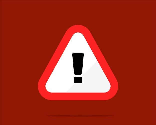 Ilustração da arte vetorial de sinal de aviso de triângulo vermelho
