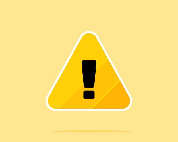 Ilustração da arte vetorial sinal de aviso de perigo amarelo