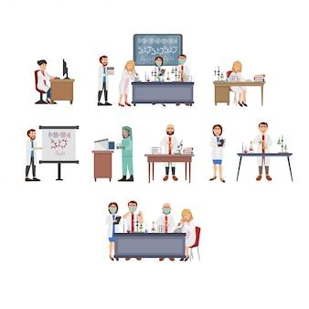 Ilustração da atividade de ciência de laboratório