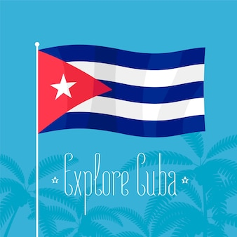 Ilustração da bandeira cubana