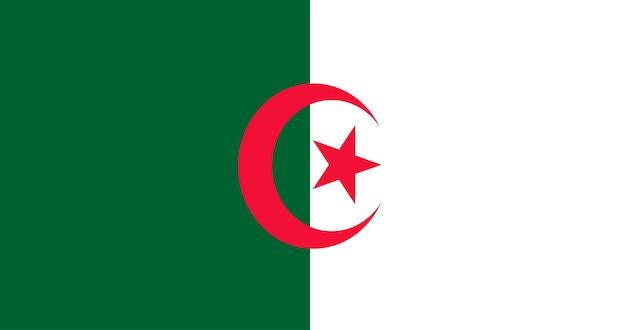 Ilustração da bandeira da argélia