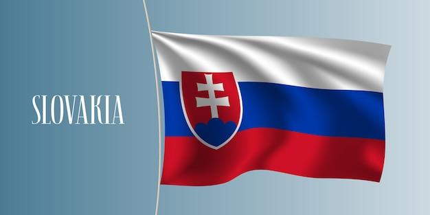 Ilustração da bandeira da eslováquia
