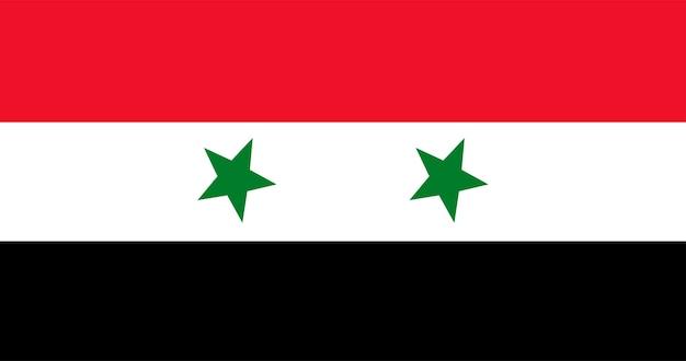 Ilustração da bandeira da síria