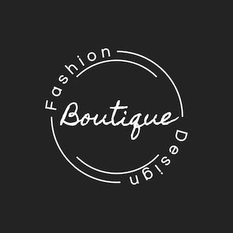 Ilustração da bandeira de carimbo de logotipo de loja boutique