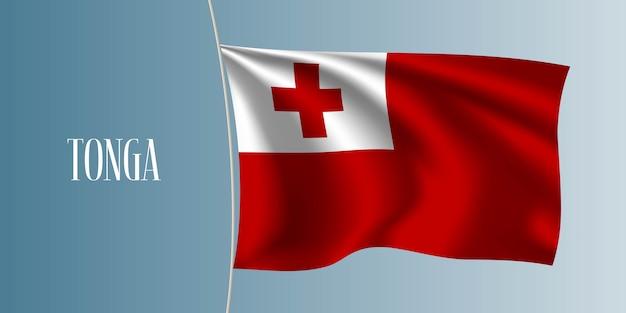 Ilustração da bandeira de tonga