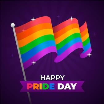 Ilustração da bandeira do dia do orgulho feliz