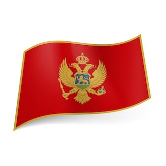 Ilustração da bandeira nacional de montenegro