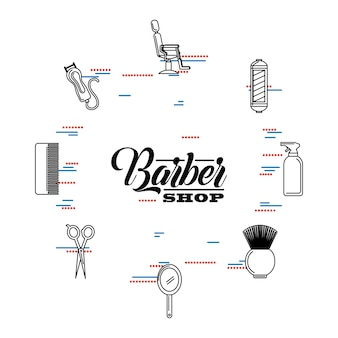 Ilustração da barber shop