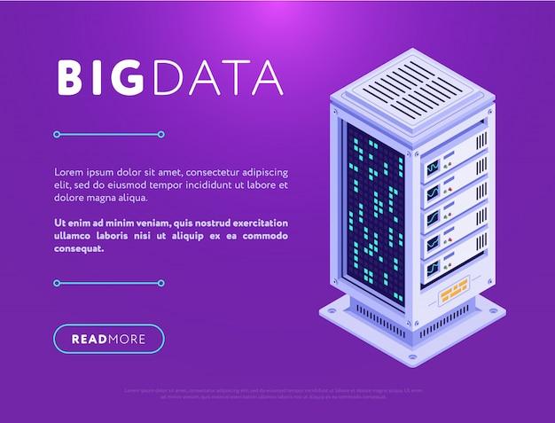 Ilustração da base do grande data center