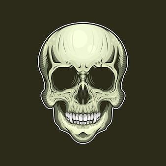 Ilustração da cabeça do crânio