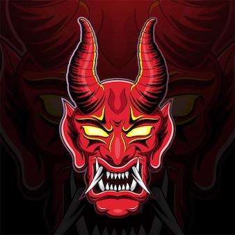 Ilustração da cabeça do demônio