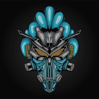 Ilustração da cabeça do robô