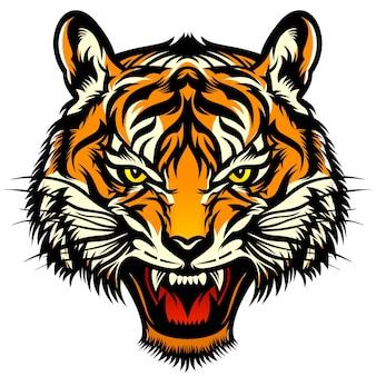 Ilustração da cabeça do tigre