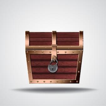 Ilustração da caixa de abertura do tesouro
