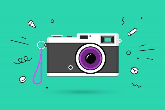 Ilustração da câmara fotográfica