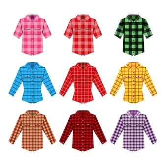 Ilustração da camisa de cheskered.