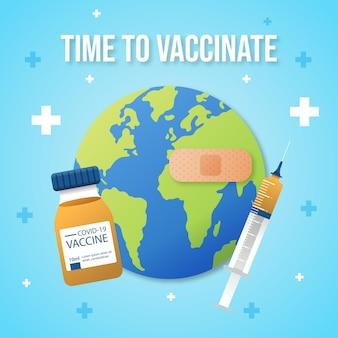 Ilustração da campanha de vacinação com gradiente