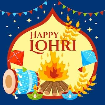 Ilustração da celebração da lohri