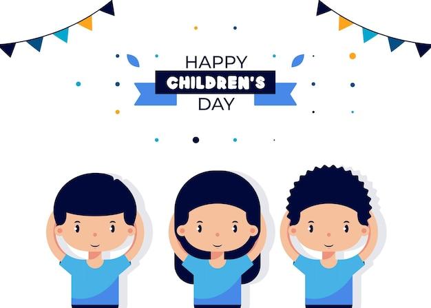 Ilustração da celebração do dia das crianças