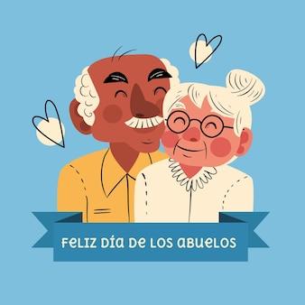 Ilustração da celebração do dia de los abuelos