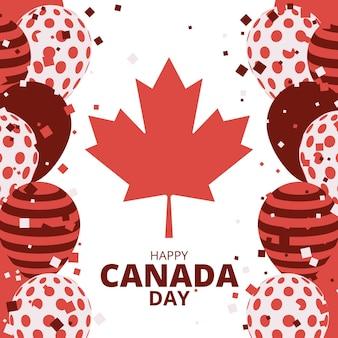 Ilustração da celebração do dia do canadá