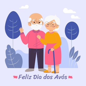 Ilustração da celebração do dia dos avos