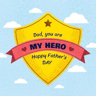 Ilustração da celebração do dia dos pais