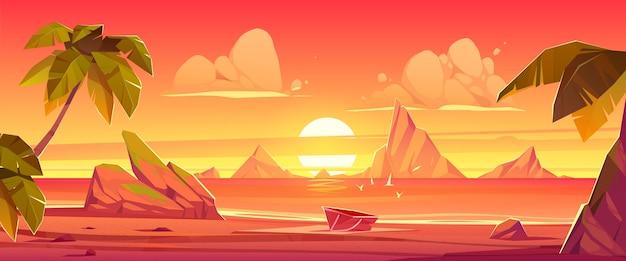 Ilustração da cena do verão dos desenhos animados
