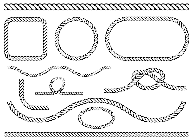 Ilustração da cenografia da corda isolada