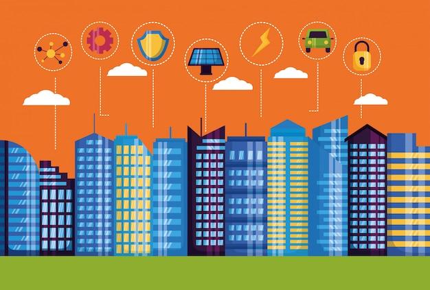 Ilustração da cidade inteligente