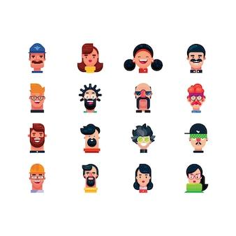 Ilustração da coleção criativa engraçada do avatar