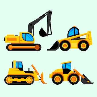 Ilustração da coleção de escavadeira