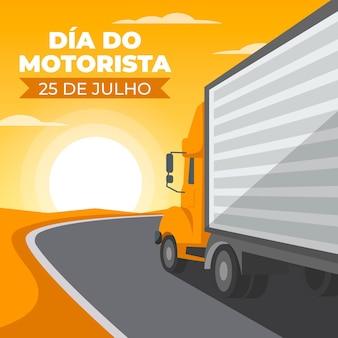 Ilustração da comemoração do dia do motorista
